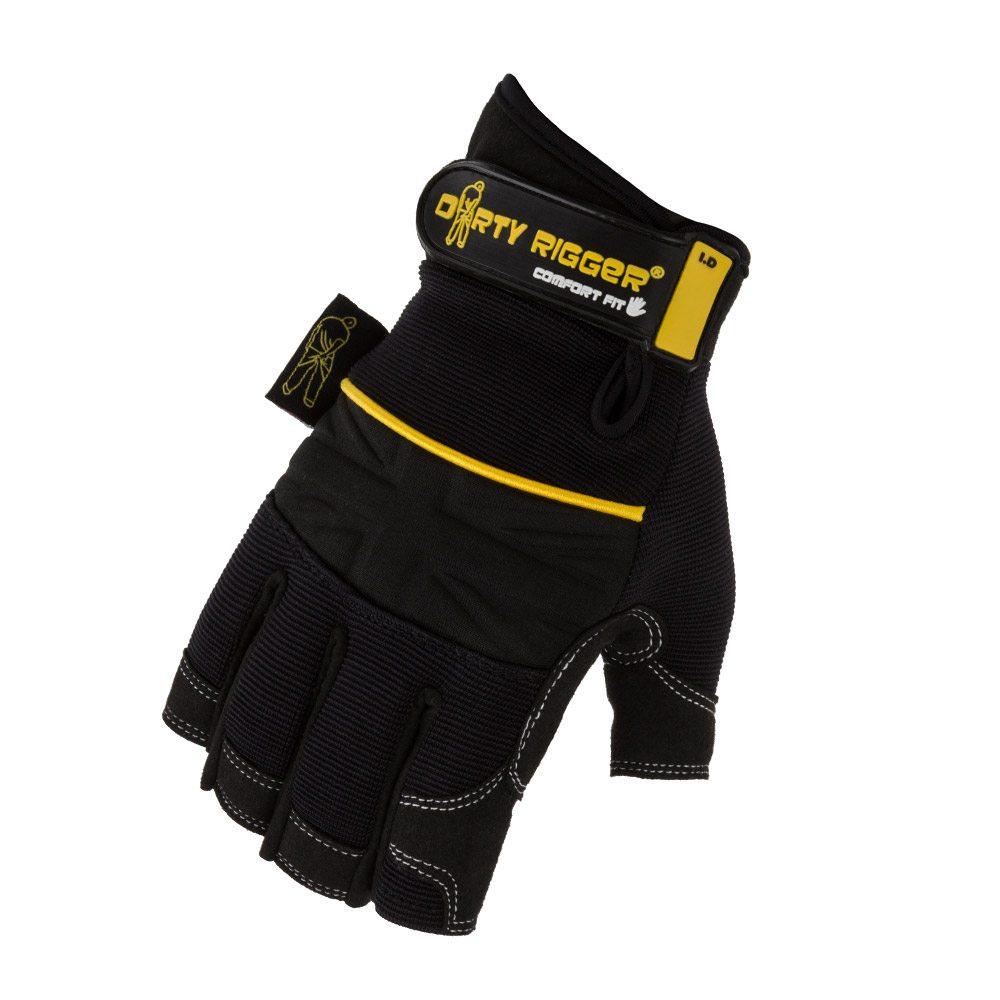 Dirty Rigger Comfort Fit™ Fingerless Rigger Glove (Back)