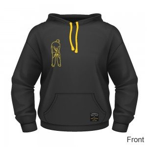 Dirty Rigger Pull over hoodie (front view)