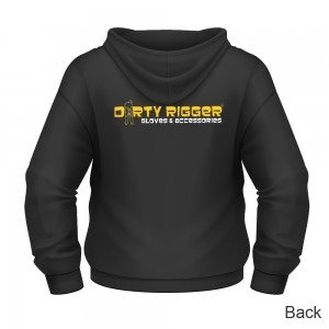 Dirty Rigger Hoodie Zip-Up (back view)