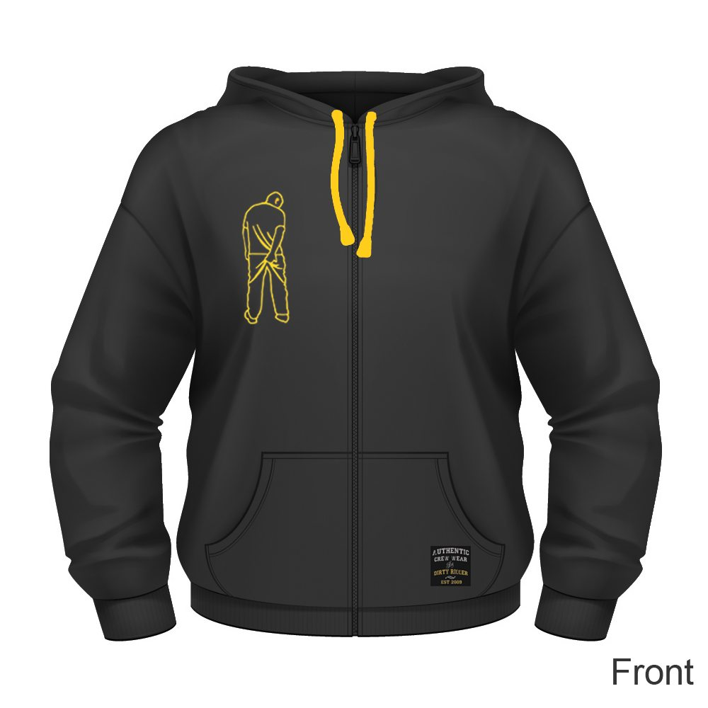 Dirty Rigger Hoodie Zip-Up (front view)