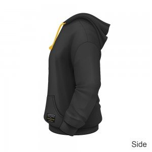 Dirty Rigger Pull over hoodie (side view)