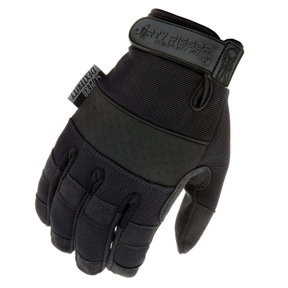 Dirty Rigger Comfort Fit 0.5 High Dexterity Glove (Back)