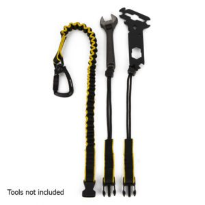 Dirty Rigger Interchangeable Tool Lanyard Shown With Tool Examples